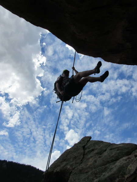 Rock Climbing Photo: Dan, a Colorado local, who we met on the summit of...