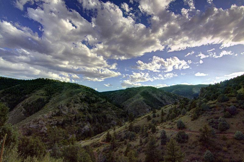 Clear Creek Canyon from Mayhem Gulch.