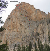 Rock Climbing Photo: Astro Elephant route overview shot taken from the ...