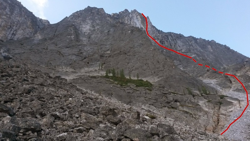 North Face, the 2nd rib is a lot easier to see in person.