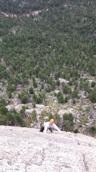 Rock Climbing Photo: Kor's Flake. Sept 1st. 2014. With Mike W.