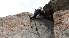 Rock Climbing Photo: Kor's Flake. Sept 1st 2014. With Mike W.