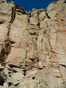 Rock Climbing Photo: Yellow = Stuffed Monkey Green = Chimp Off the Old ...