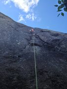 Rock Climbing Photo: Craig Porter in his element on Salespitch 5.9 P1