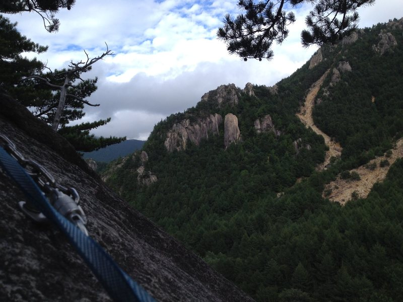 Rock Climbing Photo: Top of Gamma approach slab.