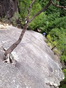 Rock Climbing Photo: 1st pitch of Haru no Modori Yuki.
