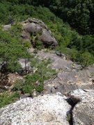 Rock Climbing Photo: End of Haru no Modori Yuki looking back.
