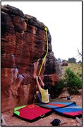 Rock Climbing Photo: Jesse starting out Personal Flotation Device, with...