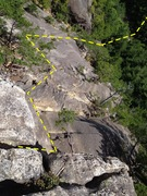 Rock Climbing Photo: Looking back on the route from the end.  Final ver...