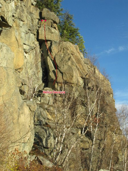 Rock Climbing Photo: Helico-Secours