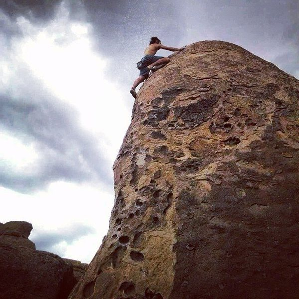 Rock Climbing Photo: Free solo on How the West Was Won.