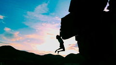 Rock Climbing Photo: Pink sky at night, Sailor's Delight.