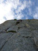 Rock Climbing Photo: Josh Lightman on-sighting Swiss Family Robinson