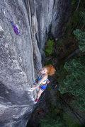 Rock Climbing Photo: Allie crushing.