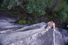 Rock Climbing Photo: Mike focusing in.