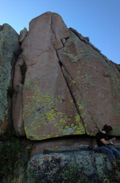 Rob Joyce getting ready to climb his favorite grade in Vedauwoo… 5.9+.