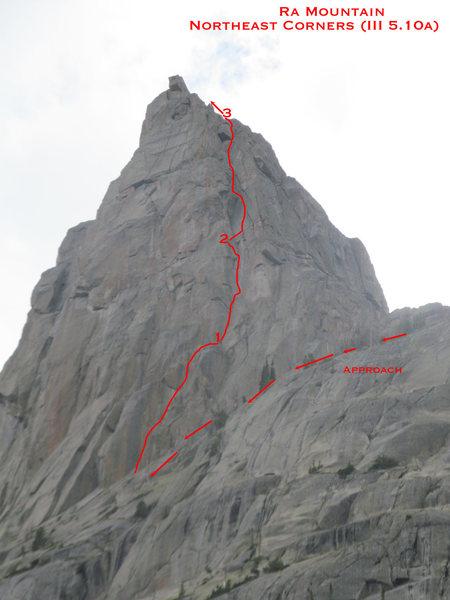 Rock Climbing Photo: Northeast Corners; Ra Mountain.