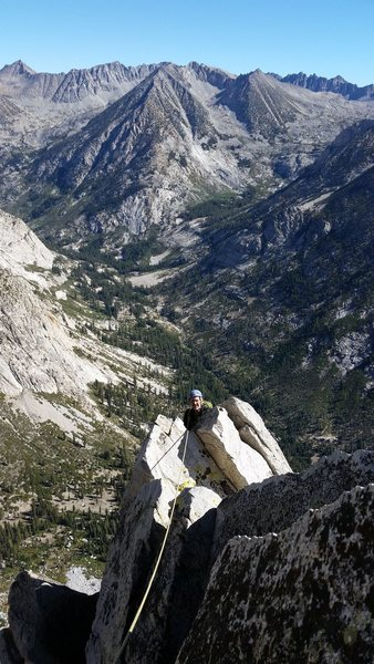 Rock Climbing Photo: Topping out!  Now we just have to get down to wate...