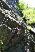 Rock Climbing Photo: A couple routes start in this overhanging section.