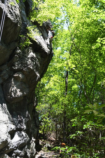 Rock Climbing Photo: Jim working the Arete on the far right.