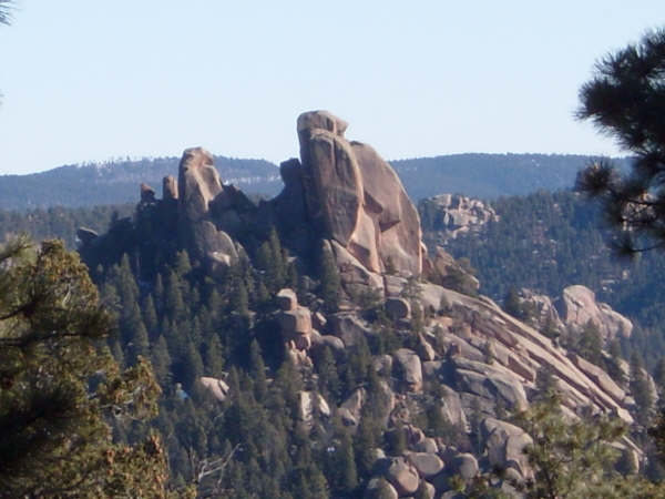 Rock Climbing Photo: Side view of The Bishop South Platte Colorado