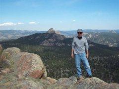 Rock Climbing Photo: Ed on Banner Peak South Platte Colorado