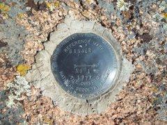 Rock Climbing Photo: Banner Peak marker 1977