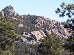 Hiking over to Banner Peak from Navy Hill Road, Sphinx Park Colorado. A vast playground of boulders to toughen you up on a summer afternoon.