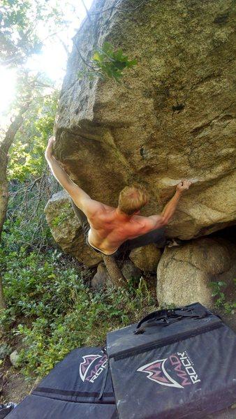 Rock Climbing Photo: preping to hit the lip