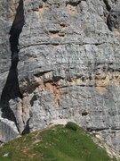 "Rock Climbing Photo: Closeup view of ""Bergfuehrer Route"" star..."