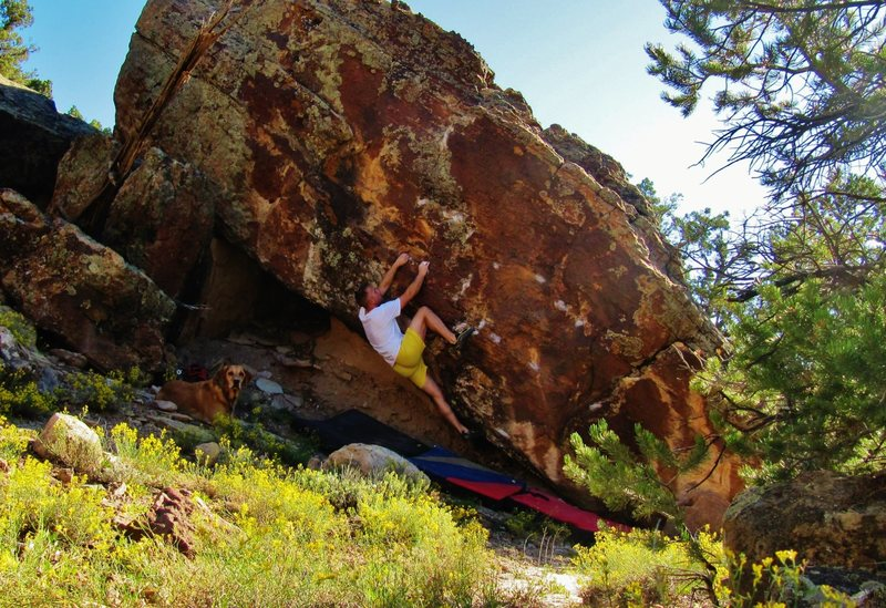 Rock Climbing Photo: Working through the edges for Points On The Packag...