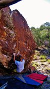 Rock Climbing Photo: Just caught the big fall move into the pinch/edge ...