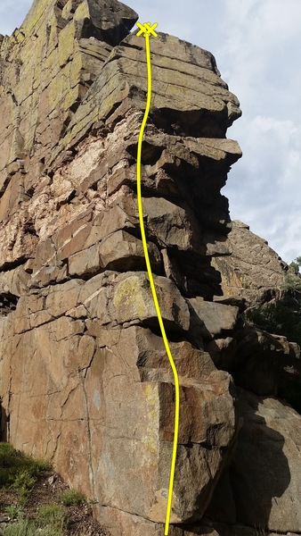 Rock Climbing Photo: South Face Left Side.
