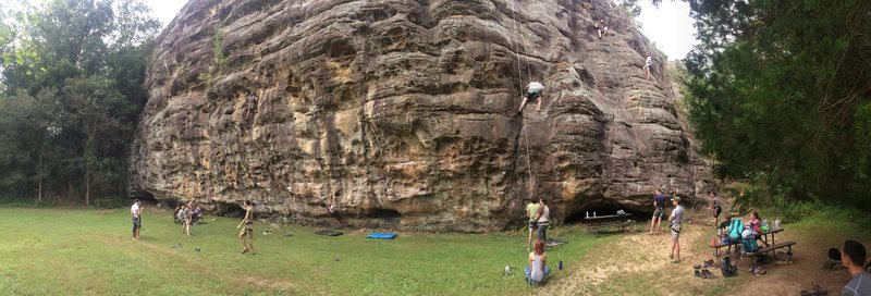 Annual SIUC Climbing Club outing to Shelter 1