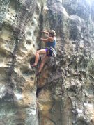 Rock Climbing Photo: Potential first female ascent by Molly Gabel