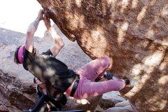 Rock Climbing Photo: Nicholas Rondilone working through the crux. Photo...