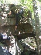Rock Climbing Photo: Silvio nearing the top.