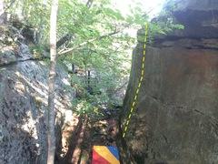 Rock Climbing Photo: Slab Center line.