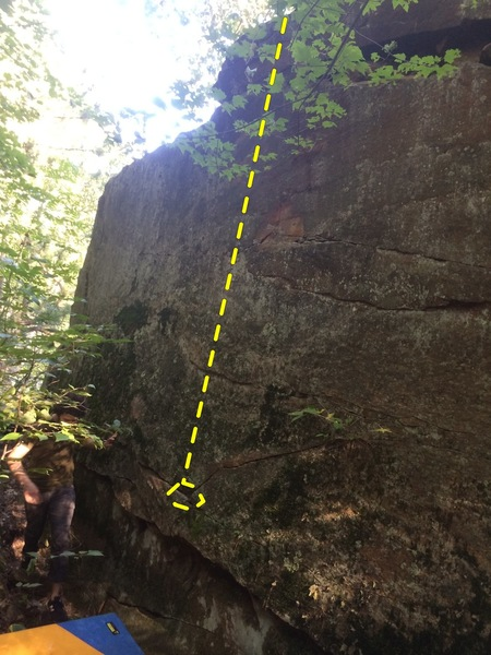 Rock Climbing Photo: slab center line