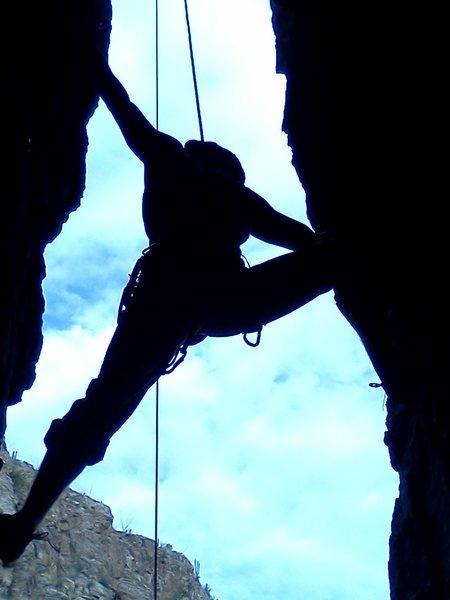 Rock Climbing Photo: Chimney on Mt Lemon, Tucson.