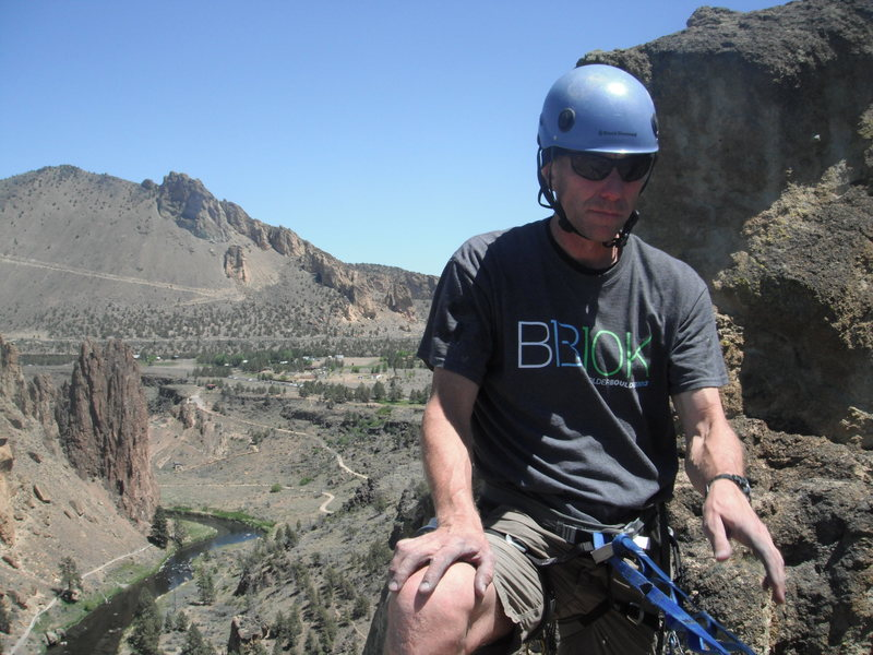 Smith Rock, On top of the 4 pitch.