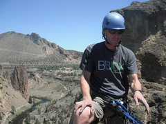 Rock Climbing Photo: Smith Rock, On top of the 4 pitch.