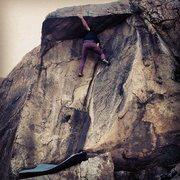 Rock Climbing Photo: Nicholas Rondilone on Antenna Roof.