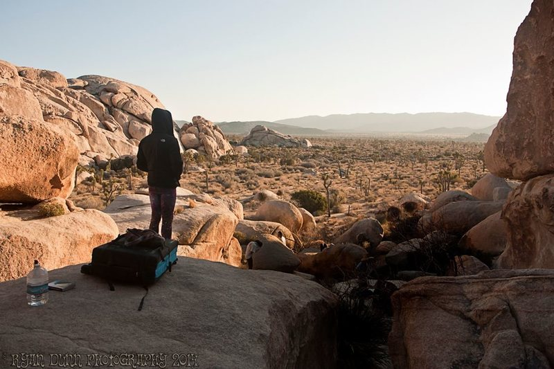 Rock Climbing Photo: Nicholas Rondilone taking it in outside the Hall o...
