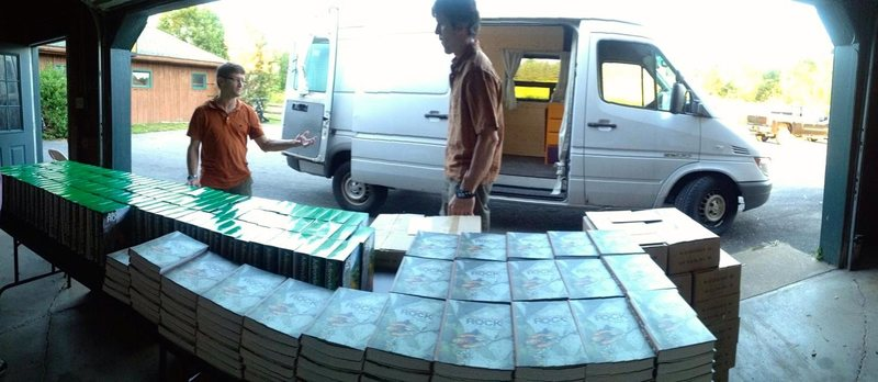 Before 1000lbs of books got loaded into the adventuremobile...