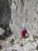 Rock Climbing Photo: Rodger, chugging along to the start of Quarta Alta...