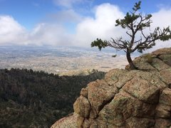 Rock Climbing Photo: View of Albuquerque from the lower half of the rou...