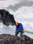 Rock Climbing Photo: First rappel off South Howser Summit, July 2014