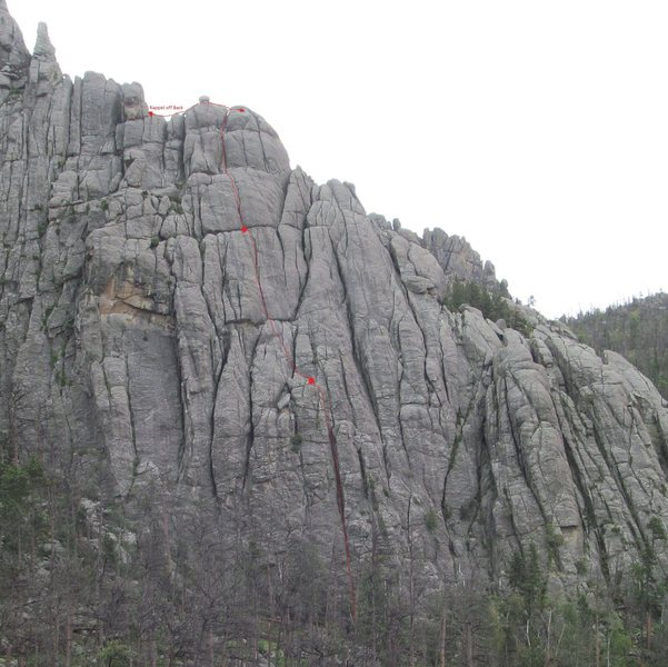 Rock Climbing Photo: We did a needles style rappel with one rope off a ...