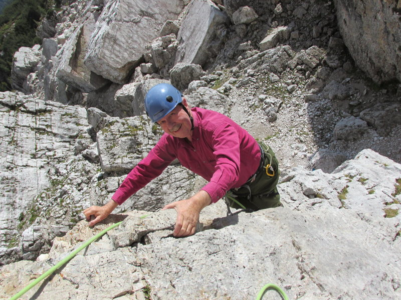 Completing pitch 1 on Torre Quarta Bassa.